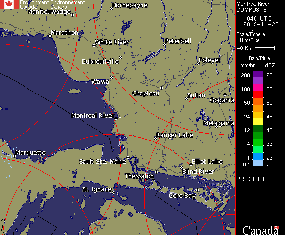 Weather Radar - Montreal River, ON - Environment Canada