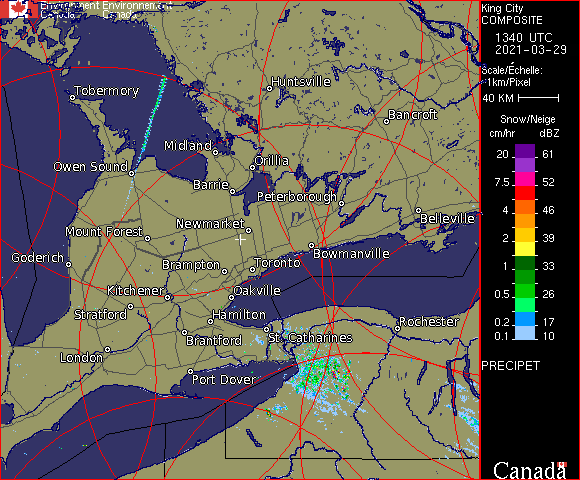 Weather Radar - King City, ON - Environment Canada