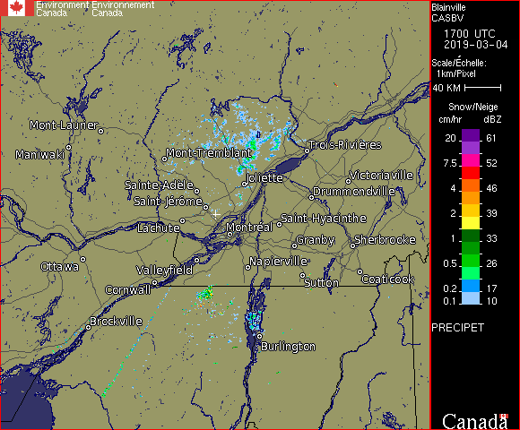Weather Radar - McGill, QC - Environment Canada