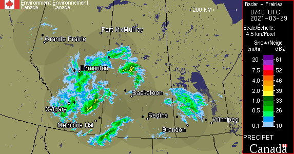 Weather Radar - Prairies - Environment Canada