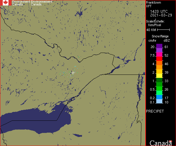 Weather Radar - Franktown, ON - Environment Canada