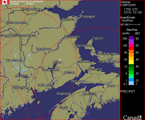 Weather Radar - Chipman, NB - Environment Canada