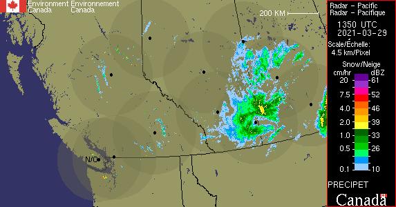 Weather Radar Pacific Environment Canada